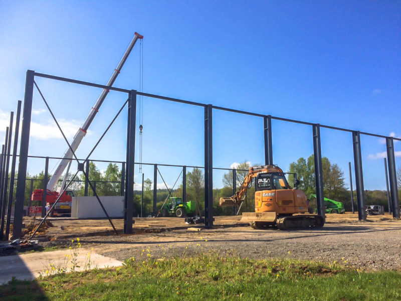 Construction Hall logistique province de luxembourg