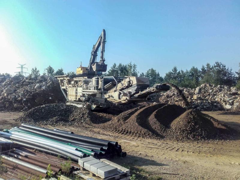 Arlon activité concassage matières de démolition