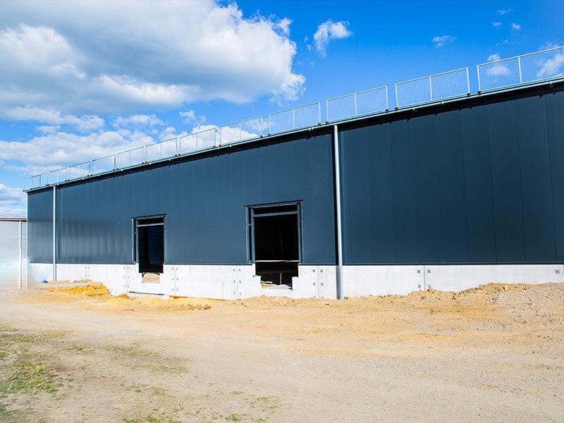 Construction d'une surface de stockage de marchandise à Arlon près de Luxembourg