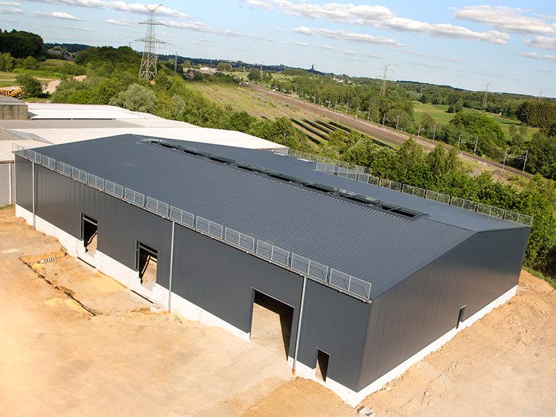 Création d'un hall de stockage pour entreprise luxembourg Arlon frontière belge Zucarlux