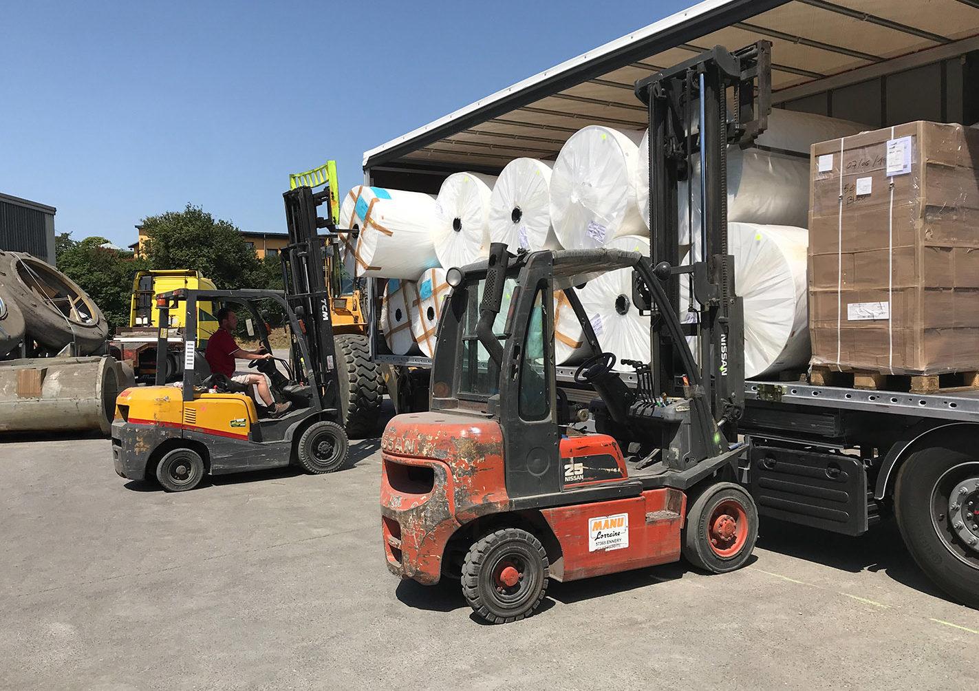 manutention de produits lourds grands gabarits Zucarlux Arlon, Messancy, Habay