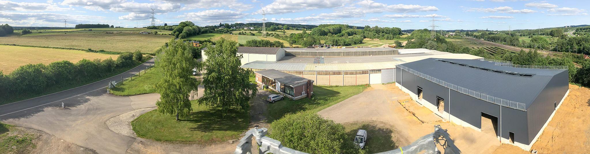 vue panoramique site Zucarlux Arlon services entreposage, manutention, recyclage